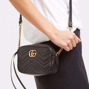 Gucci 448065 DTD1T GG MARMONT Bag - Black